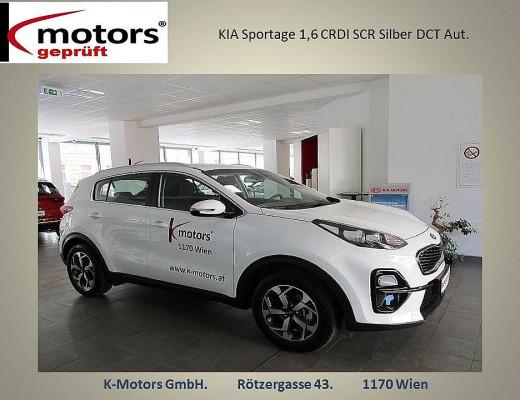 KIA Sportage 1,6 CRDI SCR MHD Silber DCT Aut. bei k-motors in