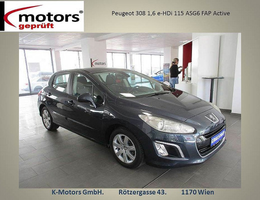 Peugeot 308 1,6 e-HDi 115 ASG6 FAP Active bei k-motors in