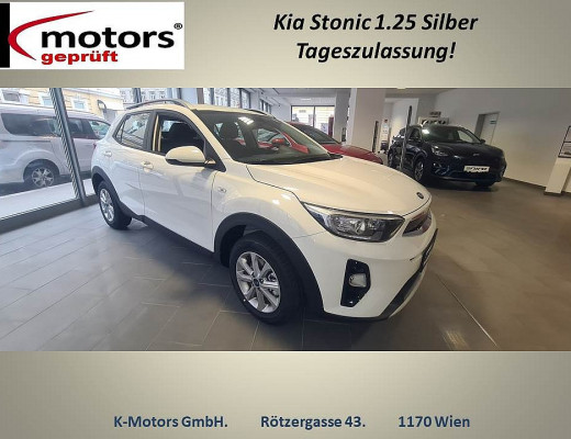 KIA Stonic 1,25 MPI ISG Silber bei k-motors in